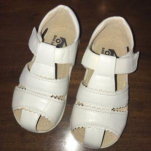 New white See Kai Run sandals
